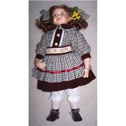 Magnificent 22  Red Headed Porcelain Doll  #1757515