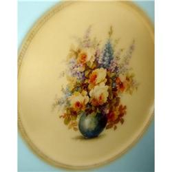 Unique Round Frame and M. Black Floral Painting#1741087