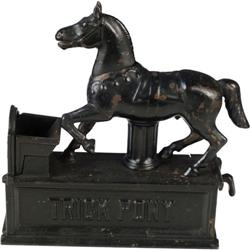Trick Pony  mechanical bank  circa 1885  Shephard Hdwe