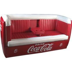 Coca cola sofa couch made from a large cooler for Coole couch