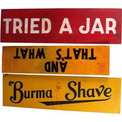 Lot of 3,  Burma Shave  original Hwy Signs