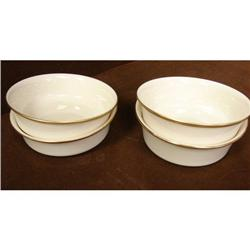 4 Lenox Eternal Coupe Cereal Bowls