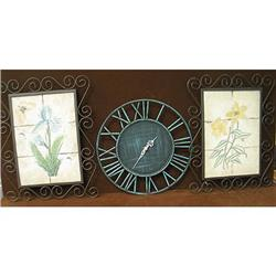Patio wall decorations & clock ++