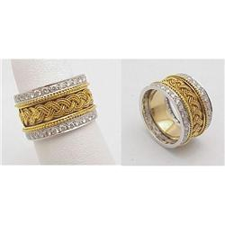 18kt mesh diamond band