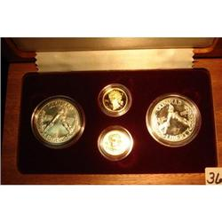 1988 Olympic 4-Coin Silver & Gold Set