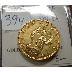1906 $10.00 Liberty Gold Coin XF