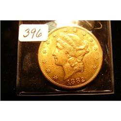 1882-S $20.00 Liberty Gold Coin AU