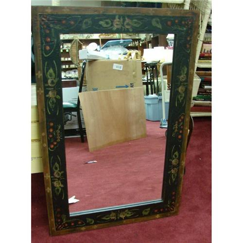black painted frame mirror 24 x 36