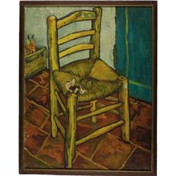 "Van Gogh's Chair Painting from ""Lust for Life"""