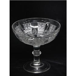 EAPG Cane and Rosette Compote c1860