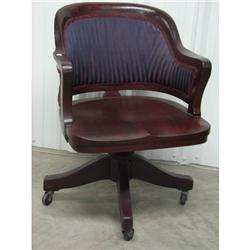 Late 19th C Mahogany Office Chair