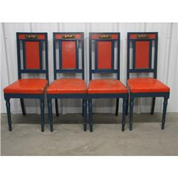 Danish Four Painted Chairs (4) c1890.