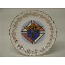 Knights of Columbus Emblem of Order Plate