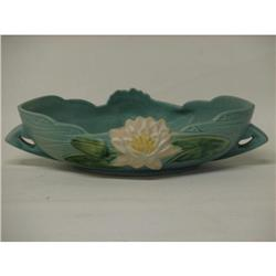 "Roseville Water Lily 441-10"" Console  Bowl - Mint"
