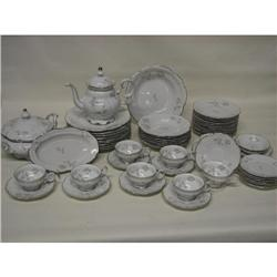 Hutschenreuther Gray Rose 8765 China Dinnerware 57pc Set
