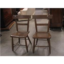 Windsor Plank Seat Chairs, Pair c1880