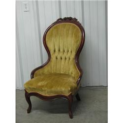 Victorian Walnut Lady's Parlor Chair ca.1850