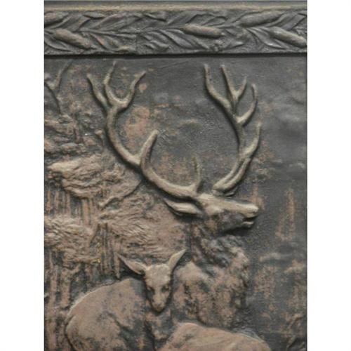 iron fireplace cover.  Charleston Cast Iron Fireplace Cover Deer Motif