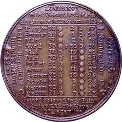 Revolutionary War Era Calendar Medal, 1779