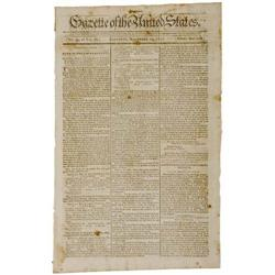 1791, Newspaper with Indian Treaty