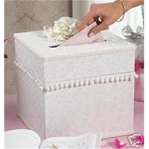 satin wedding chest favor card holder gift box 1802639