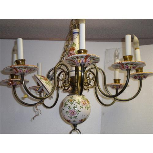 Gorgeous hand painted porcelain chandelier 1817510 aloadofball Images