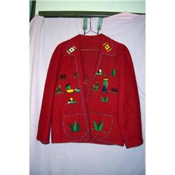 Vintage 1930 Mexican Wool Felt jacket #1824668