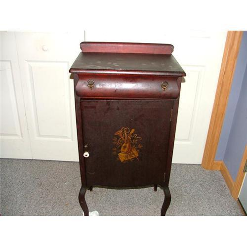 - Vintage Larkin Music Cabinet, Painted Front #1891661