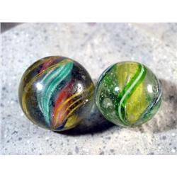 BB Marbles: 2 Large Handmade Swirls