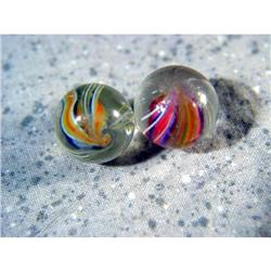 "BB Marbles: 2 Divided Core Swirls 19/32"" 9.9"