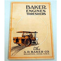 A.D. Baker steam engine catelog
