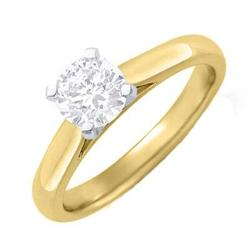 SI1-J SOLITAIRE DIAMOND 0.25CT ENGAGEMENT RING 14K GOLD
