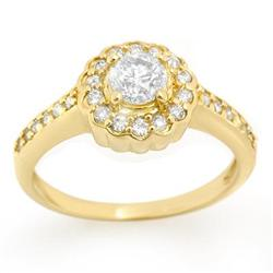 SOLITAIRE 0.80ctw ACA CERTIFIED DIAMOND LADIES RING