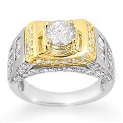 UNISEX 2.05ct CERTIFIED DIAMOND MEN'S & LADIES RING 14K