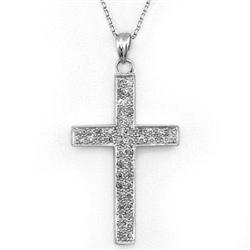 CROSS NECKLACE 0.60ctw ACA CERTIFIED DIAMOND 14KT GOLD