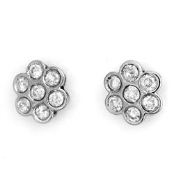 STUD FLOWER 1.80ctw ACA CERTIFIED DIAMOND EARRINGS