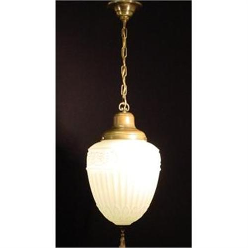 Milk Glass Pendant Light Fixture. #1915067