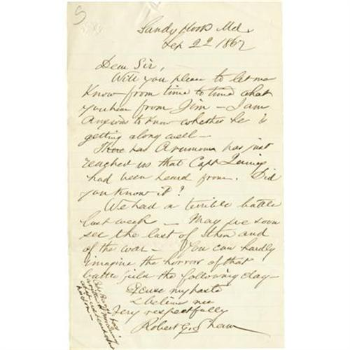Robert Gould Shaw Letters Robert gould shaw: exceedingly