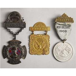LOT OF (3) UCV (UNITED CONFEDERATE VETERANS)