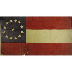 JEFFERSON DAVIS: CSA FLAG FROM BEAUVOIR