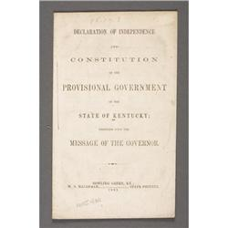 1861 KENTUCKY DECLARATION OF INDEPENDENCE