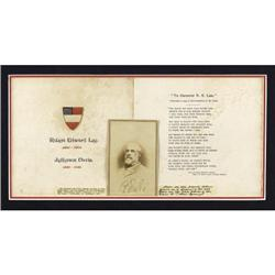 ROBERT E. LEE: A FINE SIGNED CARTE DE VISITE