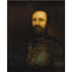 """STONEWALL"" JACKSON: IMPORTANT OIL PORTRAIT"