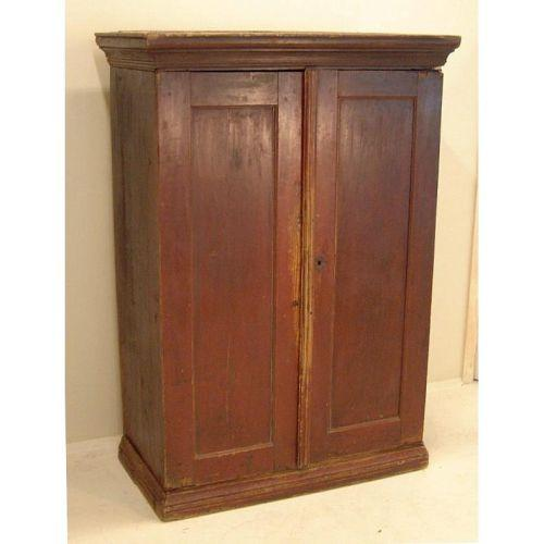 - 18thc Antique Red Pine Jelly Cupboard