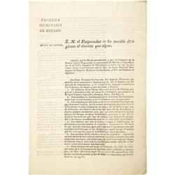 General Colonization Law of Mexico: Jan. 4, 1823