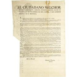 [Broadside] Melchor Muzquiz: Feb. 7, 1824. [Broadside]