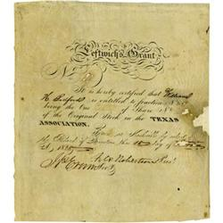 Leftwich's Grant: Document Signed; 1825