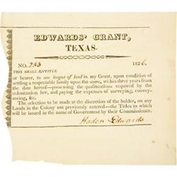 [EDWARDS GRANT] PARTLY PRINTED DOCUMENT SIGNED
