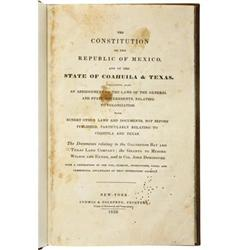 Constitution of Mexico, Coahuila and Texas; 1832