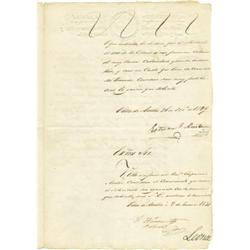 Stephen F. Austin Land Petition Signed; 1830